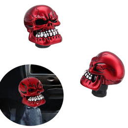 Wholesale Skull Gear Knobs - NEW Red Skull Head Universal Car Truck Manual Stick Gear Shift Knob Lever Shifter Free shipping