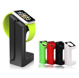 Wholesale Display Stands For Watches - New Apple Watch Stand Holder Docking Charging Charger Mount Display for apple watch 38 42mm E7 stand holder