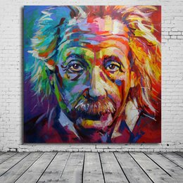 Wholesale Abstract Modern Figure Painting - 1 Piece HD Printed Albert Einstein Giclee Art Printed On Canvas Modern Wall Picture Painting No Framed