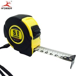 Wholesale Tape Measuring Scales - Wholesale- 5.5M Grip Tape Measure Width 25mm Metric Double Scale Automatic Measuring Tape With Thumb Lock Thicken