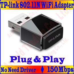 Wholesale Tp Link Ethernet Wifi - Wholesale- Plug&Play, No Need Driver, Mini TP-LINK 150M Wireless Network Card 11N 150Mbps 2.4GHz USB WiFi Adapter with Internal Antenna