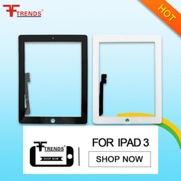 Wholesale Apple Ipad2 Wholesale - Touch Screen Glass Digitizer Replacement for iPad 2 3 4 Black White High Quality AAA 100% Tested with Retail Bubble Bag