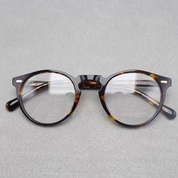 Wholesale Oliver People - 2017 brand designer Oliver Peoples women eyeglasses frame optical Round OV5186 Gregory Peck glasses prescription eyewear for men 6 colors