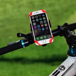 Wholesale Motorcycle Universal Phone Mount - Universal Motorcycle CAR Bicycle Bike Handlebar Mount Holder Band For Cell Phone GPS