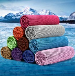 Wholesale Sports Towel Pva - Novelty 32*88cm Ice Towel Exercise Sweat Summer PVA Cold Towel Sports Cooling Quick Dry Towel Hypothermia Ice Cool Towels CCA6304 1000pcs