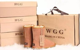 Wholesale Short Womens Winter Boots - 2017 Classic short WGG style Womens snow boots Winter Fashion style Warm stable Classic tall Boots