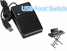 Wholesale Pc Controlled Switch - Wholesale-Portable New USB Foot Control Keyboard Action Switch Pedal HID PC FPS-P