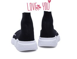 Wholesale Toed Socks For Men - 2017 Speed sock high quality Speed Trainer running shoes for men and women sports shoes Speed stretch-knit Mid sneakers ,size Eur 35-46
