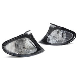 Лампа bmw e46 онлайн-Угловые огни боковые сигналы поворота лампы боковые огни для BMW E46 3-Series 4DR 2002-2005 325i 330i прозрачный объектив