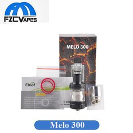 Wholesale Ss Atomizer - Original Eleaf Melo 300 Tank 3.5ml 6.5ml Optional Capacity Sub Ohm Beast Tank 300W Vape Atomizer Black SS Color