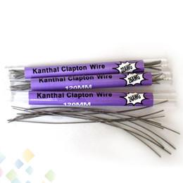 10 piezas en un tubo Clapton Wire 120MM 22 * 32g 24 * 32g 26 * 32g 28 * 32g 32 * 32g Cable de resistencia Clapton Wire Electronic Cigarette DHL Free desde fabricantes