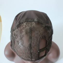 Wholesale Side U Part Wig - New Arrival Left side U part wig cap brown color Front Lace Weaving Wig Cap Foundation Inside Inner Base Wig Cap