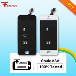 Wholesale Display Iphone 5c - Black White LCD Display Touch Screen Digitizer Full Assembly for iPhone 5S 5C 5 5G Replacement Repair Parts & free shipping