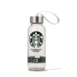 Wholesale Hand Testing - Clear Glass Water Bottle For Starbucks Mug Leak-Proof Double Wall Vacuum Insulated Travel Bottles Portable 301-400Ml Cup Sports Bottle