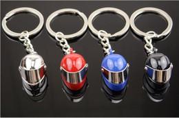 Wholesale Helmet Keyring - Metal Motorcycle Helmet Keychain for Keys Motor Helm Key Chain Keyring Zinc Alloy Keyring Key Ring Keyfob for Car Gift