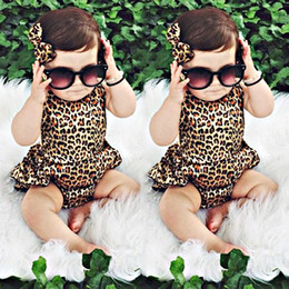 Wholesale Playsuit Dresses - Newborn Kids Toddler Baby Girl Clothes Bodysuit Infant Romper Dress Sleeveless Jumpsuit Playsuit Outfits Next Kids Clothing Boutique Outfits