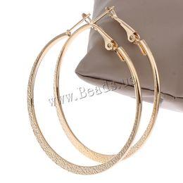 Wholesale Celebrity Brand Jewelry - Wholesale- Hot Sale Hoop Earrings Big Round Circle Hoop Earrings Celebrity Brand Punk Gold-color Loop Hoop Earrings for Women Jewelry