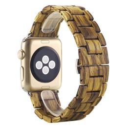Деревянный ремешок, Challyhope новая мода бамбук деревянный браслет Браслет ремешок ремешок для Apple смарт часы серии 1/2 38мм-коричневый от Поставщики новые умные часы apple