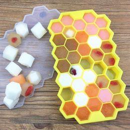 Wholesale Baking Maker - 37 Holes Silicone Honeycomb Modeling Cake Chocolate Mold Ice Tray Cube Bee Honey Ice Maker Mold Kitchen DIY Baking Tools B065