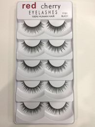 Wholesale Wholesalers Hand Packs - Red Cherry False eyelashes 5 pairs pack 8 Styles Natural Long Professional makeup Big eyes High Quality