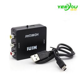 Wholesale Vga Green - HDMI2AV AV2HDMI 1080P HD Video Adapter mini RCA TO HDMI Converter CVBS+L R HDMI2RCA For Xbox PS3 PC360 With retail packaging