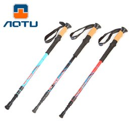 Wholesale Telescopic Light Stick - AOTU Outdoor Hold Three Sticks 60% Carbon Ultra-light Folding Telescopic Cane with His Stick 214