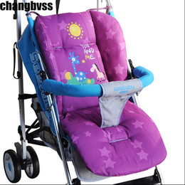 Wholesale Carts For Children - Wholesale- Baby Carriage Pad,Cartoon Stroller Cushion for Baby Child Prams and Pushchairs Mat Padding Liner Cart Seat Mattress Stroller Pad
