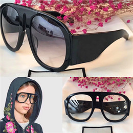 Wholesale Brown Glasses Frames - The latest style fashion designer eyewear oversize frame popular avant-garde style top quality optical glasses and sunglasses series 0152