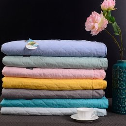 Wholesale 2017 New Multi function Spring Summer Quilt air condition quilt Pure Cotton Bedspread Full Queen size Colors