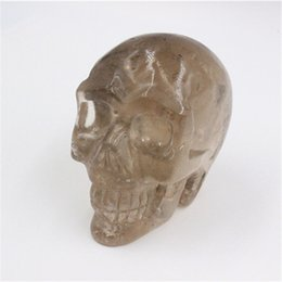 Wholesale Crystal Skull Carving - Wholesale 300g - 1000g pure natural crystal tea crystal skull head pure hand-carved Reiki Crystal Healing Statue decoration Stone Skull