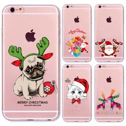Wholesale Christmas Iphone 4s Covers - Christmas New Year Gifts Tree Snowman Animals Case For iphone 6 6s   Plus 6Plus 7 5 5s SE 4 4s 5C Soft Silicone Back Cover Case
