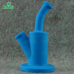 Wholesale Cheapest Water Pipes - Unbreakable bong Silicone water pipes cheapest water bongs glass pipe Smoking Oil Concentrate Metal Plastic Pipe Fast Free DHL