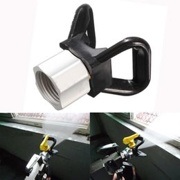 Wholesale Black Gun Paint - New Arrival Black Airless Paint Flat Tip Guard Nozzle Seat for Wagner Titan Spray Tools
