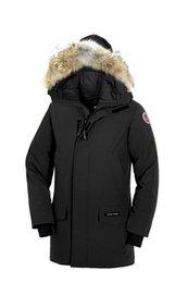 Wholesale Mens Jackets Canada - Canada Coats men Langford Hooded Parkas, 2018 New Winter Mens long down jacket Black Grey Brown