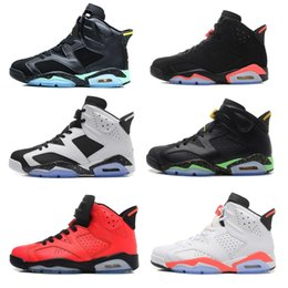 Wholesale Cheap Cotton Canvas Fabric - 2016 cheap air retro 6 mens basketball shoes Infrared maroon Carmine Olympic red black Angry bull Sneaker For Online Sale size 8 - 13
