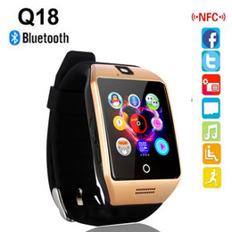 Wholesale Good Messaging Phones - Q18 Smart Watch Bluetooth Smartwatch Phone with Camera TF SIM Card Slot for Android Samsung Good Quality Free shipping