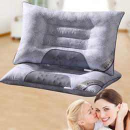Wholesale buckwheat pillows - Wholesale- Brand New 40 x70cm Lavender Buckwheat Pillow Cervical Magnetic Therapy Health Care Pillow Home Textiles Bedding Pillow Neck Care