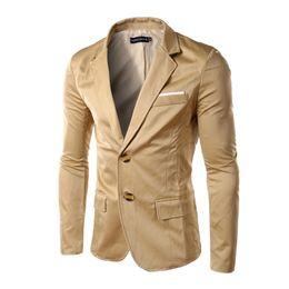 Wholesale Leisure Suit Models - Wholesale- 2016 autumn and winter explosion models men's jackets men's Twill Slim leisure suit office work young