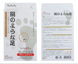Wholesale Butterfly Baby Foot - Japan Butterfly Baby Foot Renewal Mask Remove Dead Skin Peeling Cuticle xfoliating Butterfly baby foot peeling Foot Mask