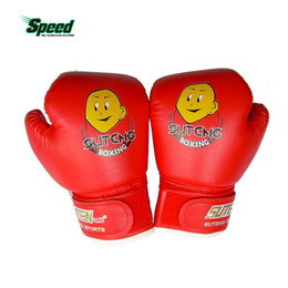Wholesale Cartoon Train Box - High Quality Child 1 Pair Durable Boxing Gloves Cartoon Sparring Kick Fight Sport Gloves Training Fists Pu Leather Muay Sandbag
