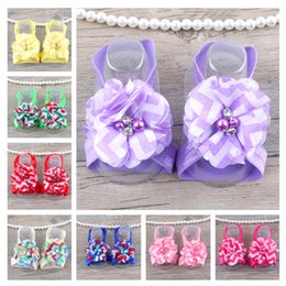 Wholesale Peony For Headband - The latest lace peony hair band suit children 's hair flowers headbands for babies girls
