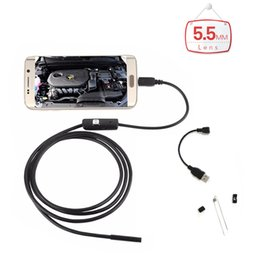 Wholesale Mirco Camera - 2017 new arrival 5.5mm Lens OTG Mirco USB PC Android Endoscope Camera 1M 1.5M 2M 3.5M 5M Waterproof Snake Tube Pipe Borescope