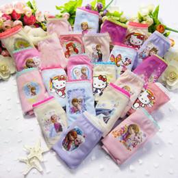 Wholesale Cute Girls Panties - Children panties mickey Elsa Anna princess cat cartoon kids shorts underwear Big boys Girls Briefs baby Cute cotton underpants C2899