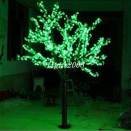 LED Artificiale Cherry Blossom Tree Light Luce di Natale 1248 pz LED Lampadine 2 m / 6.5ft Altezza 110/220 VAC Antipioggia Uso Esterno Spedizione Gratuita supplier artificial outdoor blossom trees da alberi artificiali di fiore all'aperto fornitori