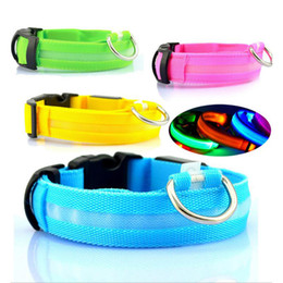 Wholesale Dog Leash Collars - new Hot sell Nylon LED Pet Dog Collar,Night Safety Flashing Glow In The Dark Dog Leash,Dogs Luminous Fluorescent Collars Pet Supplies