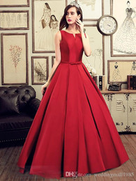 Wholesale Tie Back Sash - Formal Evening Dresses V-Neck New 2017 Red Strapless Quinceanera Dresses Bow Tie Long Section Of Elegant Graduation Prom Robe Plue Size