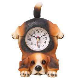 Canada Cadeaux d'anniversaire enfants gros-moderne résine mignon horloge de bureau sans batterie ornements créatifs horloge animale décoration chien et chat ornements cheap dog cat ornaments wholesale Offre