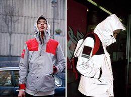 Wholesale Hooded Mens Light Jacket - New Mens Super waterproof jacket night outdoors 3M reflect light Outerwear Coats, Man Hip hop hat Jacket