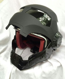 Wholesale Motorcycle Open Face Dot Helmet - MS 610 Half Matte Black Atomic-Man Motorcycle DOT Approved Helmet