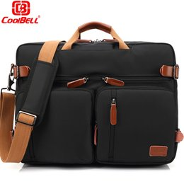 55fc3ec9df26 Convertible Backpack Laptop bag 17 17.3 inch notebook bag shoulder Messenger  Bag Laptop Case Handbag Business Briefcase Rucksack